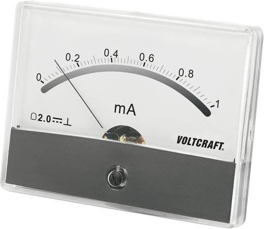 Beépíthető analóg lengőtekercses árammérő műszer 1mA/DC Voltcraft AM-86x65