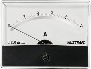 Beépíthető analóg lengőtekercses árammérő műszer 5A/DC Voltcraft AM-86x65 VOLTCRAFT