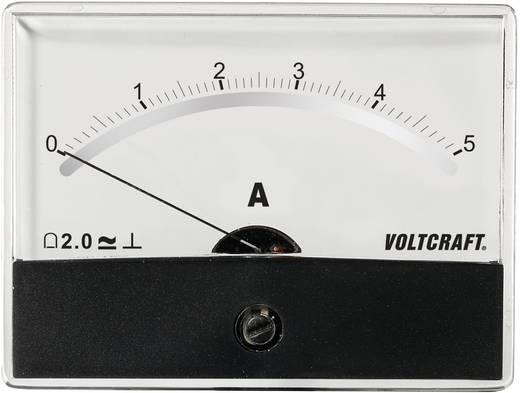 Beépíthető analóg lengőtekercses árammérő műszer 5A/DC Voltcraft AM-86x65