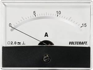 Beépíthető analóg lengőtekercses árammérő műszer 15A/DC Voltcraft AM-86x65 VOLTCRAFT