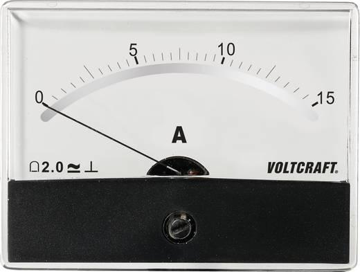 Beépíthető analóg lengőtekercses árammérő műszer 15A/DC Voltcraft AM-86x65
