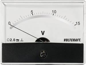 Beépíthető analóg lengőtekercses feszültségmérő műszer 15V/DC Voltcraft AM-86x65 VOLTCRAFT