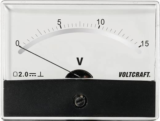 Beépíthető analóg lengőtekercses feszültségmérő műszer 15V/DC Voltcraft AM-86x65
