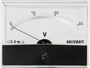 Beépíthető analóg lengőtekercses feszültségmérő műszer 30V/DC Voltcraft AM-86x65 VOLTCRAFT