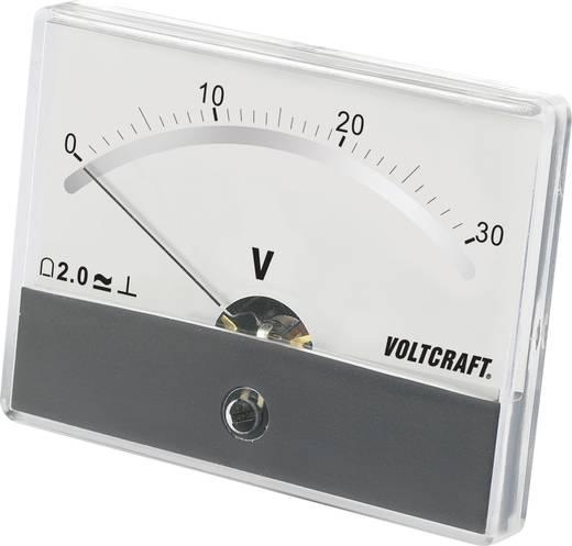 Beépíthető analóg lengőtekercses feszültségmérő műszer 30V/DC Voltcraft AM-86x65