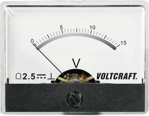 Beépíthető analóg lengőtekercses feszültségmérő műszer 15V/DC Voltcraft AM-60x46