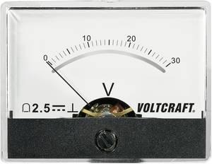 Beépíthető analóg lengőtekercses feszültségmérő műszer 30V/DC Voltcraft AM-60x46 VOLTCRAFT