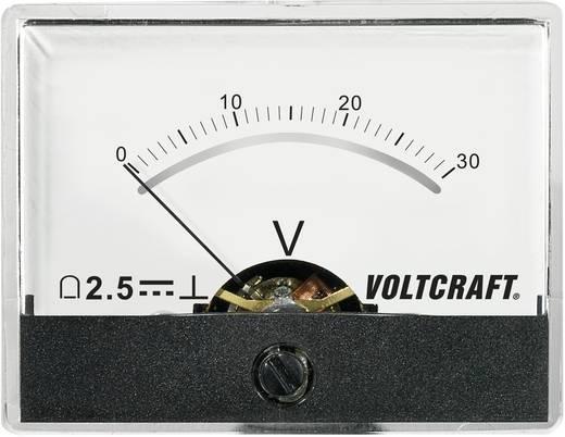 Beépíthető analóg lengőtekercses feszültségmérő műszer 30V/DC Voltcraft AM-60x46