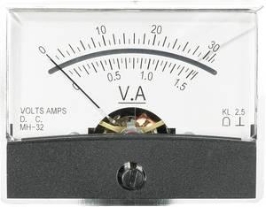 Beépíthető analóg lengőtekercses műszer 30V/DC 1,5A/DC Voltcraft AM-60x46 VOLTCRAFT