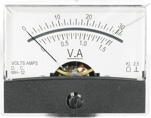 Beépíthető analóg lengőtekercses műszer 30V/DC 1,5A/DC Voltcraft AM-60x46
