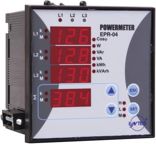 3 fázisú AC teljesítmény- és energiafogyasztás mérő, beépíthető, ENTES EPR-04-96