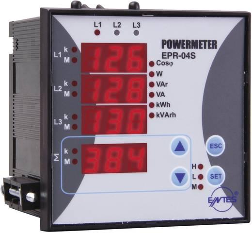 Beépíthető 3 fázisú teljesítmény- és energiafogyasztás mérő, ENTES EPR-04S-96