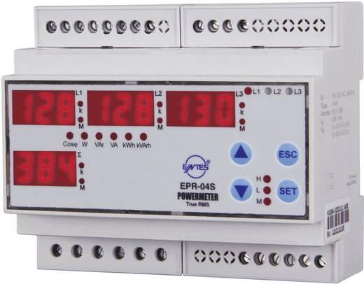 3 fázisú teljesítmény- és fogyasztásmérő, kalapsínre szerelhető, ENTES EPR-04S-DIN