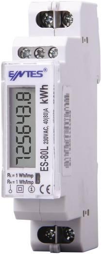 DIN sínre szerelhető 1 fázisú digitális fogyasztásmérő 80A, ENTES ES-80L