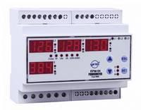 Programozható 3 fázisú DIN sínes AC multiméter, feszültség, áram, frekvencia, üzemóra, ENTES EPM-04-DIN (101477) ENTES