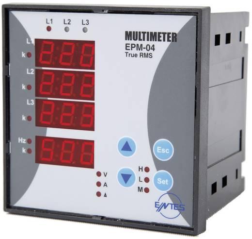 Programozható 3 fázisú beépíthető AC multiméter, feszültség, áram, frekvencia, üzemóra, ENTES EPM-04C-96