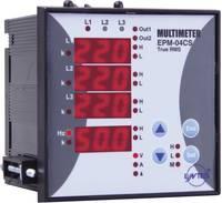 Programozható 3 fázisú beépíthető AC multiméter, feszültség, áram, frekvencia, üzemóra, ENTES EPM-04CS-96 (101480) ENTES
