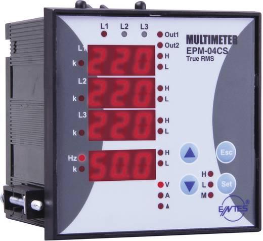 Programozható 3 fázisú beépíthető AC multiméter, feszültség, áram, frekvencia, üzemóra, ENTES EPM-04CS-96