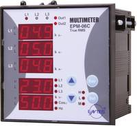 Programozható 3 fázisú beépíthető AC multiméter, feszültség, áram, frekvencia, üzemóra, ENTES EPM-06C-96 (101485) ENTES