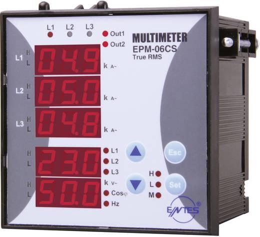 Programozható 3 fázisú beépíthető AC multiméter, feszültség, áram, frekvencia, üzemóra, ENTES EPM-06CS-96