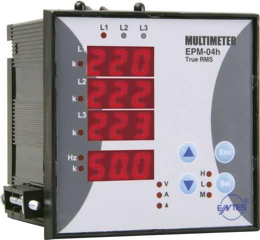 3 fázisú multiméter üzemóra számlálóval, beépíthető, ENTES EPM-04h-96