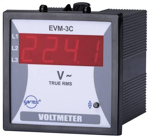 Beépíthető feszültségmérő műszer, ENTES EVM-3C-72
