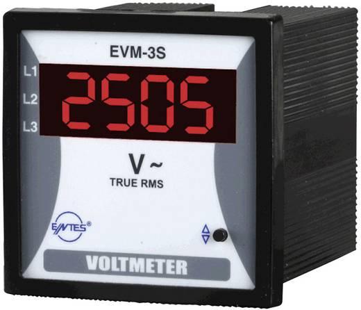 3 fázisú beépíthető feszültségmérő műszer, ENTES EVM-3S-72