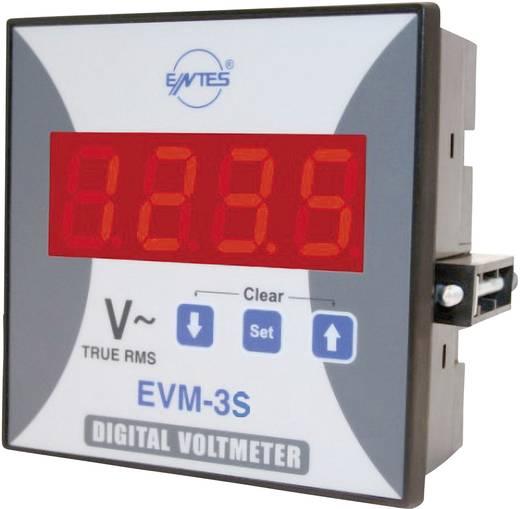 3 fázisú beépíthető feszültségmérő műszer, ENTES EVM-3S-96