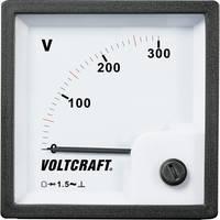 Analóg beépíthető táblaműszer, beépíthető voltmérő 300V Voltcraft AM 72x72 VOLTCRAFT