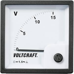 Analóg beépíthető táblaműszer, beépíthető voltmérő 15V Voltcraft AM 72x72 VOLTCRAFT
