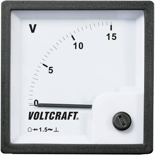 Analóg beépíthető táblaműszer, beépíthető voltmérő 15V Voltcraft AM 72x72