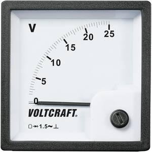 Analóg beépíthető táblaműszer, beépíthető voltmérő 25V Voltcraft AM 72x72 VOLTCRAFT