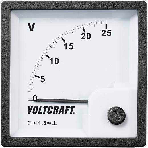 Analóg beépíthető táblaműszer, beépíthető voltmérő 25V Voltcraft AM 72x72
