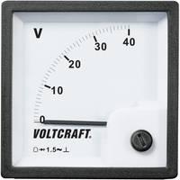 Analóg beépíthető táblaműszer, beépíthető voltmérő 40V Voltcraft AM 72x72 VOLTCRAFT