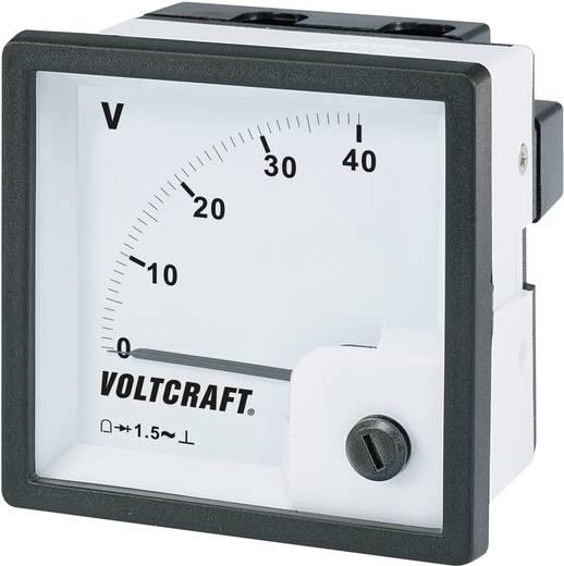 Analóg beépíthető táblaműszer, beépíthető voltmérő 40V Voltcraft AM 72x72