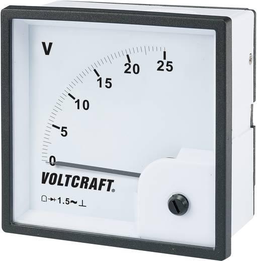 Analóg beépíthető táblaműszer, beépíthető voltmérő 25V Voltcraft AM 96x96