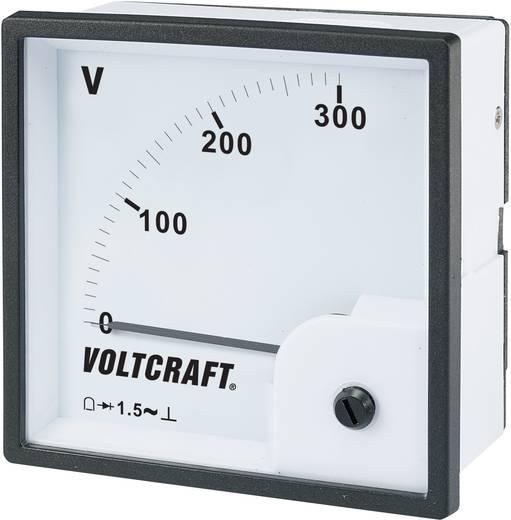Analóg beépíthető táblaműszer, beépíthető voltmérő 300V Voltcraft AM 96x96