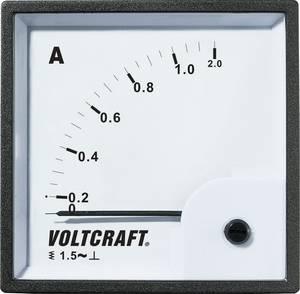 Analóg beépíthető lágyvasas táblaműszer, beépíthető árammérő műszer 1A Voltcraft AM 72x72 VOLTCRAFT