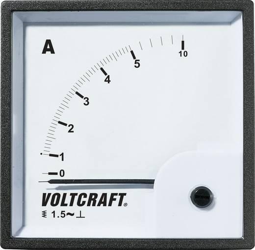 Analóg beépíthető lágyvasas táblaműszer, beépíthető árammérő műszer 5A Voltcraft AM 72x72