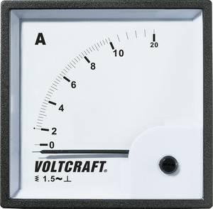 Analóg beépíthető lágyvasas táblaműszer, beépíthető árammérő műszer 10A Voltcraft AM 72x72 VOLTCRAFT