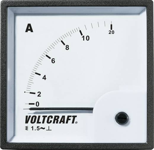 Analóg beépíthető lágyvasas táblaműszer, beépíthető árammérő műszer 10A Voltcraft AM 72x72