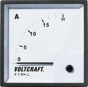 Analóg beépíthető lágyvasas táblaműszer, beépíthető árammérő műszer 15A Voltcraft AM 72x72 VOLTCRAFT