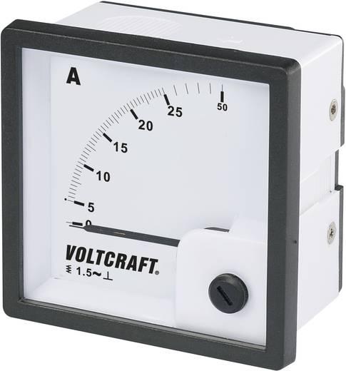 Analóg beépíthető lágyvasas táblaműszer, beépíthető árammérő műszer 25A Voltcraft AM 72x72