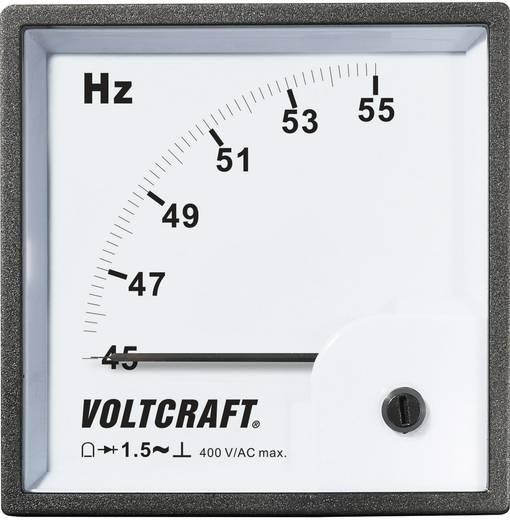 Beépíthető frekvenciamérő, lágyvasas, lengőtekercses táblaműszer Voltcraft AM-96X96/50HZ