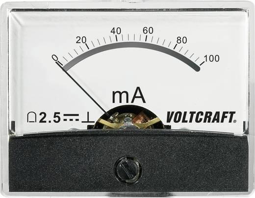 Beépíthető analóg lengőtekercses árammérő műszer 100mA/DC Voltcraft AM-60x46