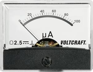 Beépíthető analóg lengőtekercses árammérő műszer 100µA/DC Voltcraft AM-60x46 VOLTCRAFT