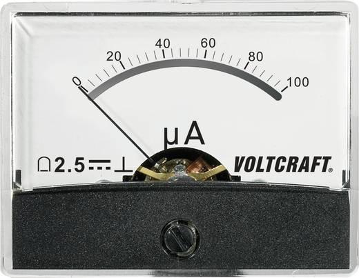 Beépíthető analóg lengőtekercses árammérő műszer 100µA/DC Voltcraft AM-60x46
