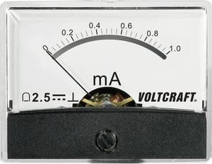 Beépíthető analóg lengőtekercses árammérő műszer 1mA/DC Voltcraft AM-60x46 VOLTCRAFT