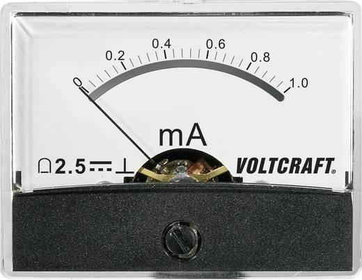 Beépíthető analóg lengőtekercses árammérő műszer 1mA/DC Voltcraft AM-60x46