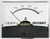 Beépíthető analóg lengőtekercses árammérő műszer 1A/DC Voltcraft AM-60x46 VOLTCRAFT